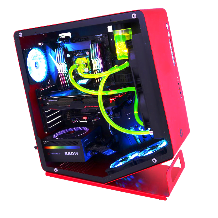 PC Gamer Dust HADES Processeur Intel Core i7 7740X - Corsair 16Go DDR4 - PNY nVidia GF GTX 1080 8Go - Samsung SSD 1To