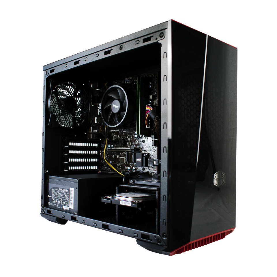 PC Gamer Dust RED BARON <sup>v2</sup> AMD Ryzen 5 2400G - 16Go DDR4 - Disque dur SSD 240Go - 1To