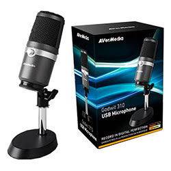 image produit Avermedia USB Microphone - AM310 Picata