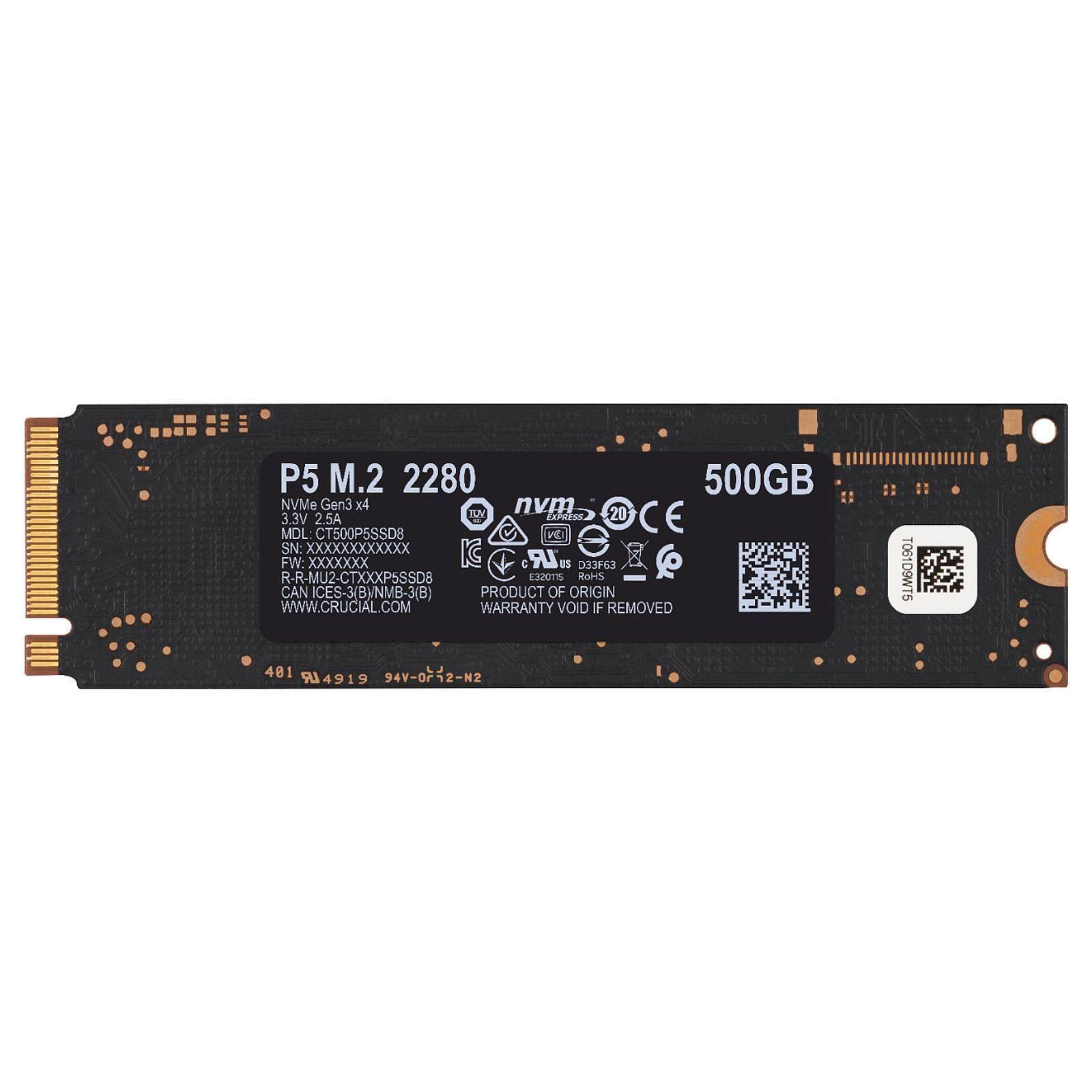 500Go M.2 NVMe - CT500P5SSD8 - P5 (CT500P5SSD8) - Achat / Vente Disque SSD sur Picata.fr - 3
