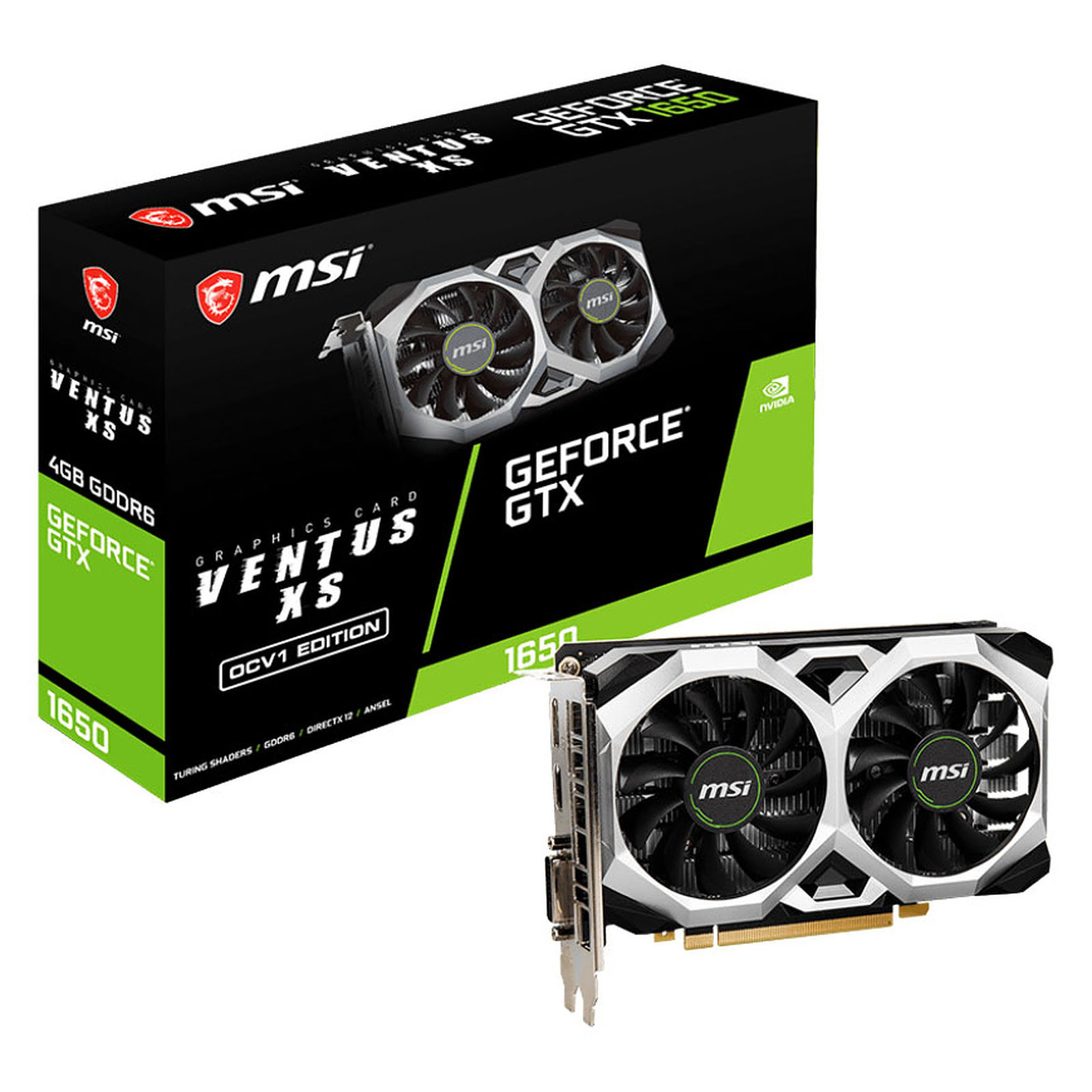 GeForce GTX 1650 D6 VENTUS XS OCV1 (912-V809-3616) - Achat / Vente Carte graphique sur Picata.fr - 0
