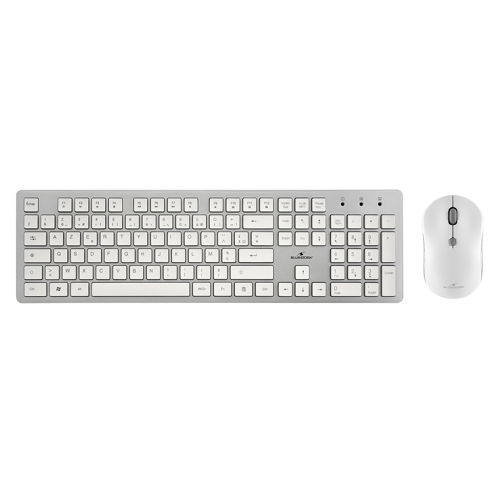 Wireless Pack Easy II-N Blanc/Silver (PACK-EASY-II-N/FR) - Achat / Vente Pack Clavier/Souris sur Picata.fr - 0