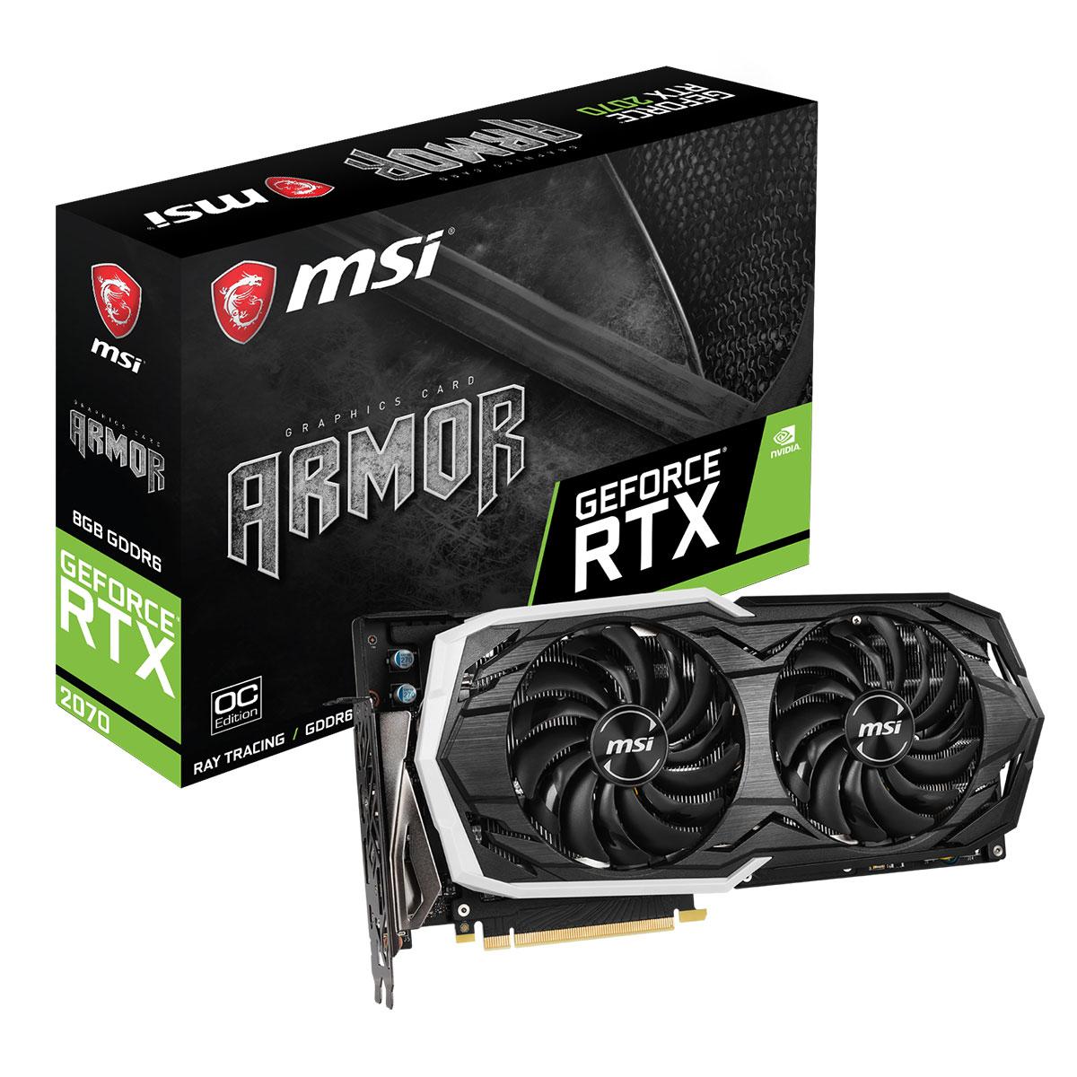 GeForce RTX 2070 ARMOR 8G OC (912-V373-226 --) - Achat / Vente Carte graphique sur Picata.fr - 0