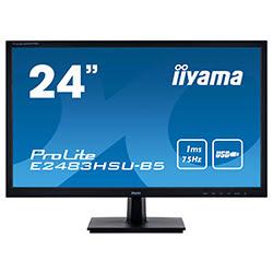 "image produit Iiyama E2483HSU-B5 - 24"" LED/1ms/FHD/VGA/DVI/DP/HP # Picata"