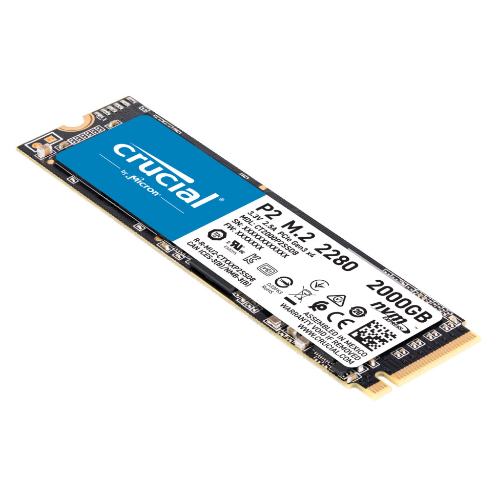 2To M.2 NVMe - CT2000P2SSD8 - P2 (CT2000P2SSD8) - Achat / Vente Disque SSD sur Picata.fr - 1