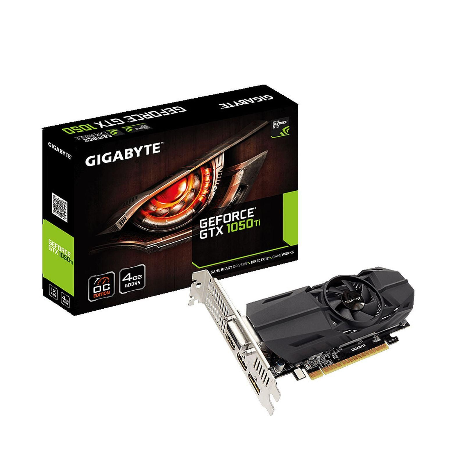 GeForce GTX 1050 Ti OC Low Profile 4G (GV-N105TOC-4GL) - Achat / Vente Carte graphique sur Picata.fr - 0
