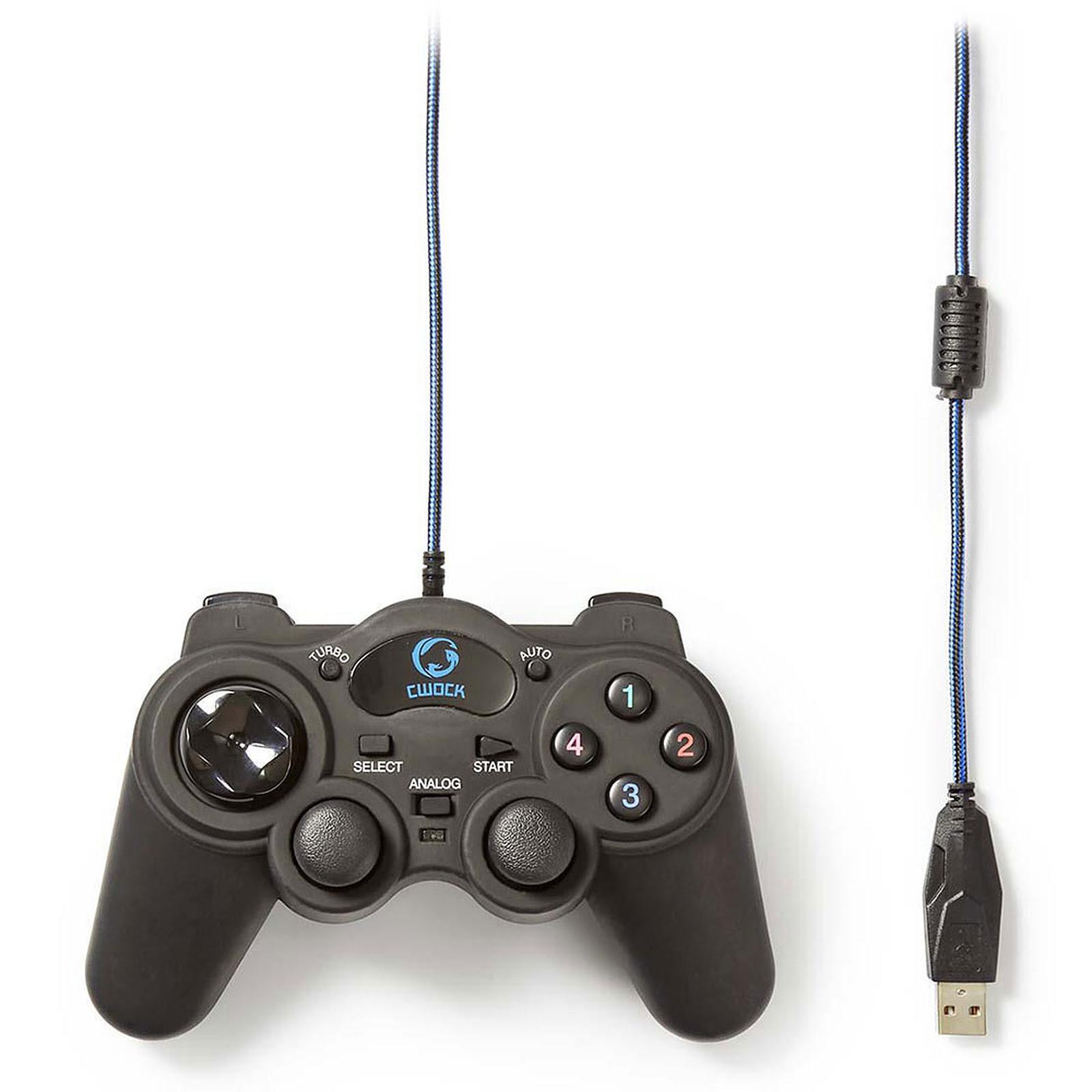 Manette de Jeu - 12 boutons/vibration/USB (GGPD100BK ++) - Achat / Vente Périphérique de jeu sur Picata.fr - 2