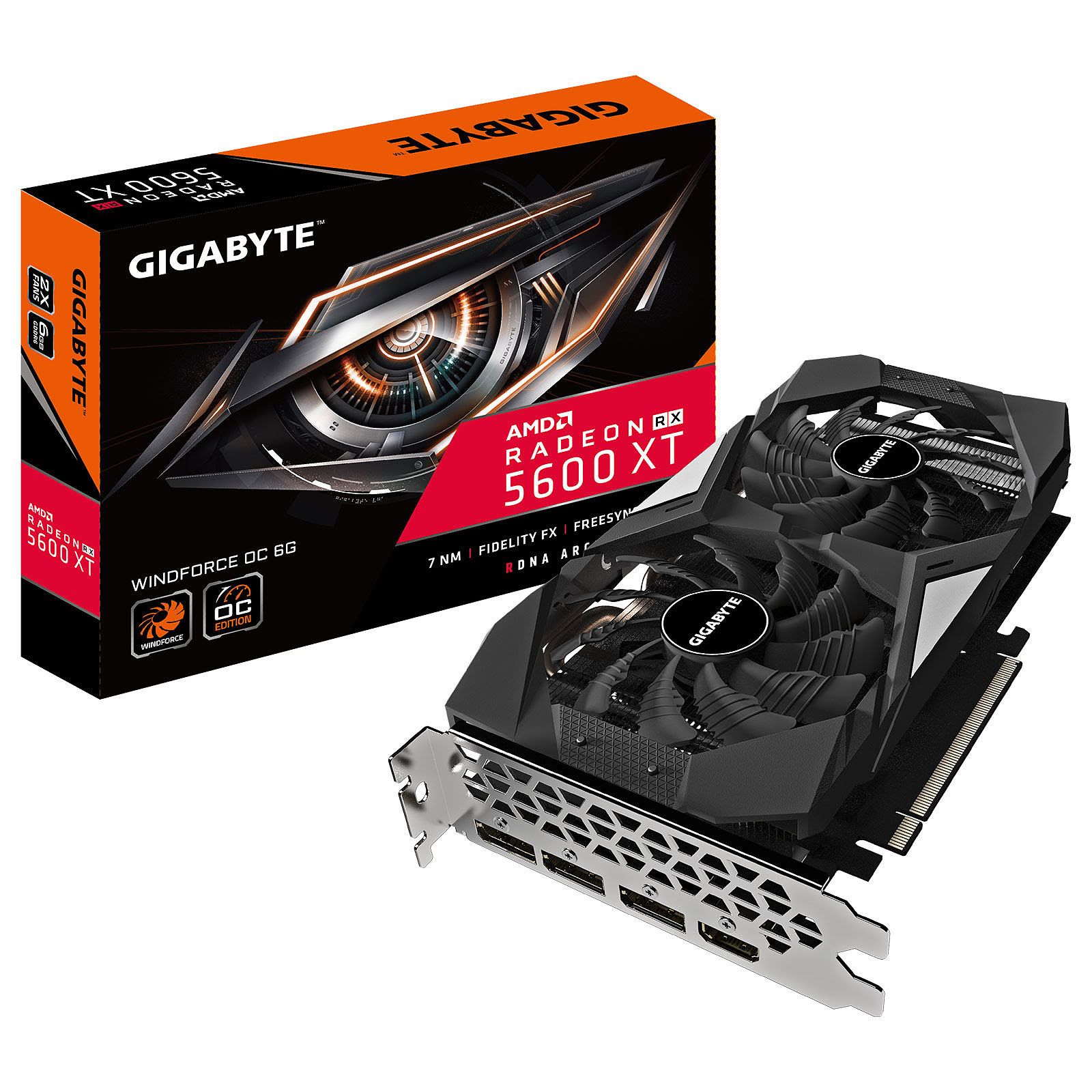 Radeon RX 5600 XT WINDFORCE OC 6G  (GV-R56XTWF2OC-6GD) - Achat / Vente Carte graphique sur Picata.fr - 0