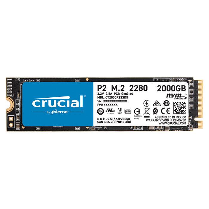 2To M.2 NVMe - CT2000P2SSD8 - P2 (CT2000P2SSD8) - Achat / Vente Disque SSD sur Picata.fr - 0